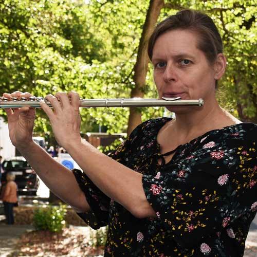 Kirsten Grotemeyer an der Querflöte