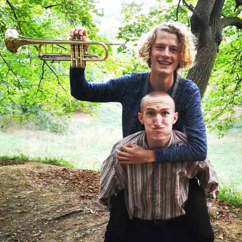 Moritz & Frieder an den Trompeten