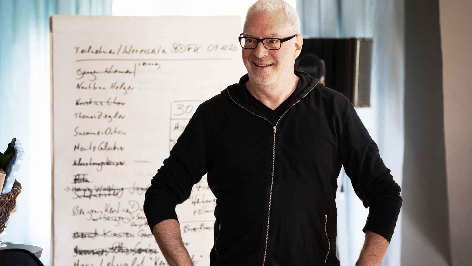 Organisator Edgar Wilkening beim Balkon der freien Künste 2020