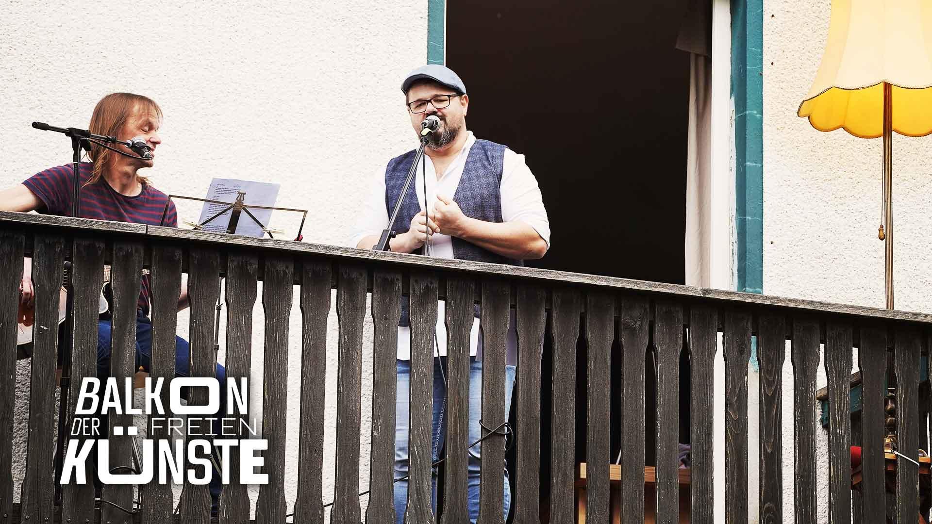 """""""Else klingt"""": Thomas Ziegler und Marcus Gornik auf dem Balkon der freien Künste"""