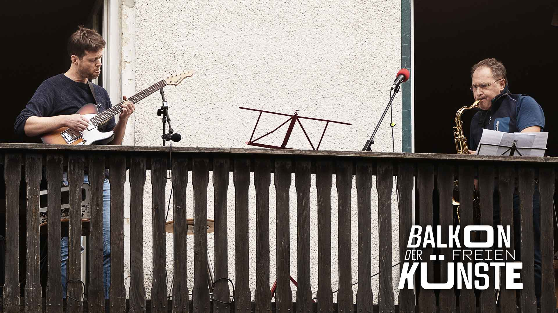Benjamin Kersting und Hajo Woltersdorf auf dem Balkon der freien Künste