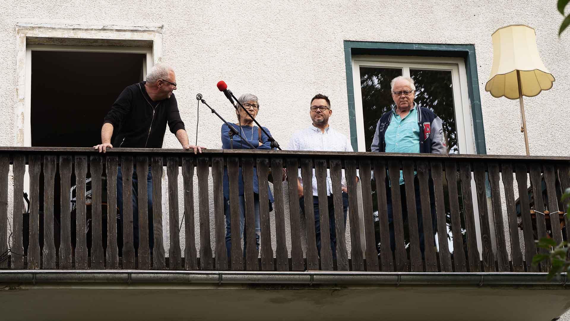 Bühnencheck beim Balkon der freien Künste 2020