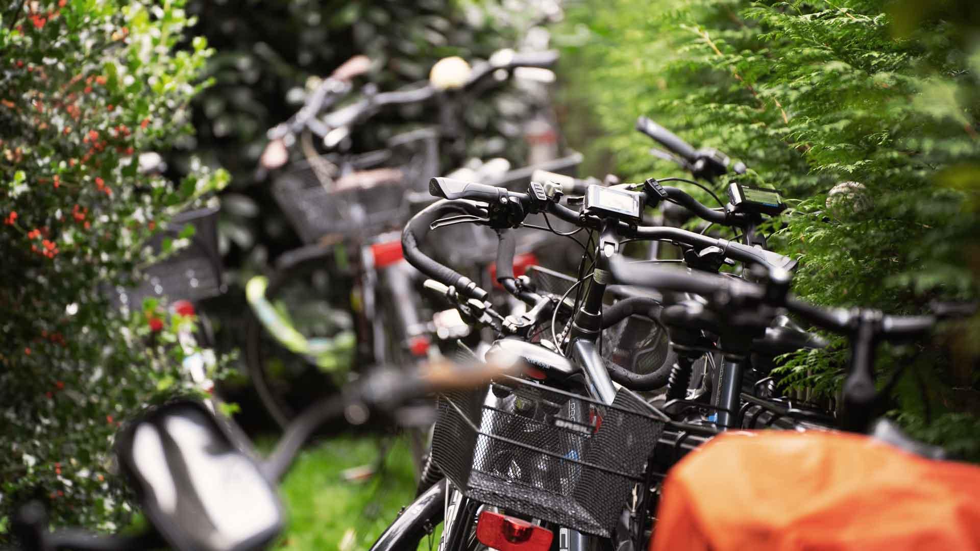 Vorbildliche Anreise per Rad beim Balkon der freien Künste 2020