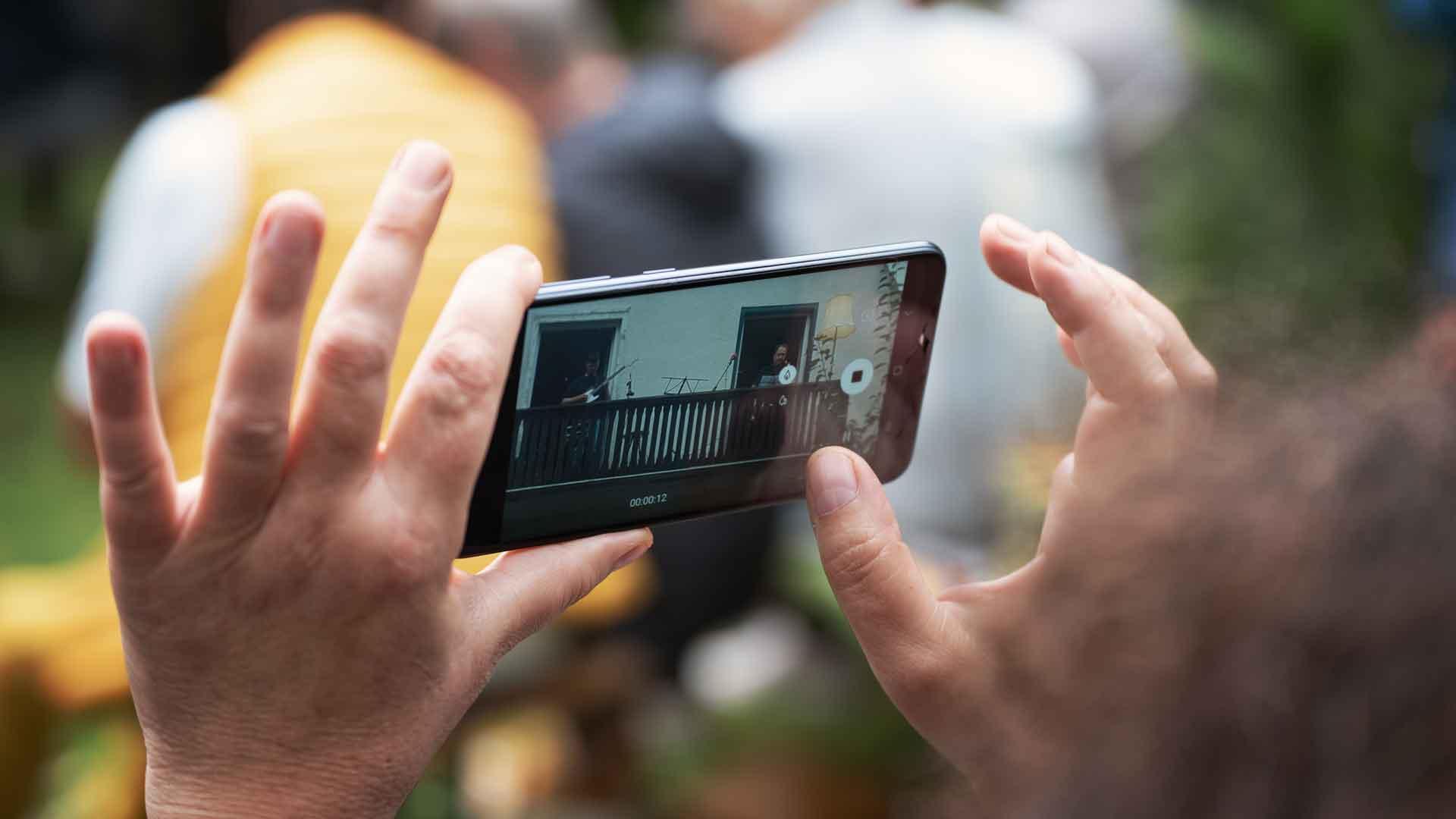 Video-Recording beim Balkon der freien Künste 2020