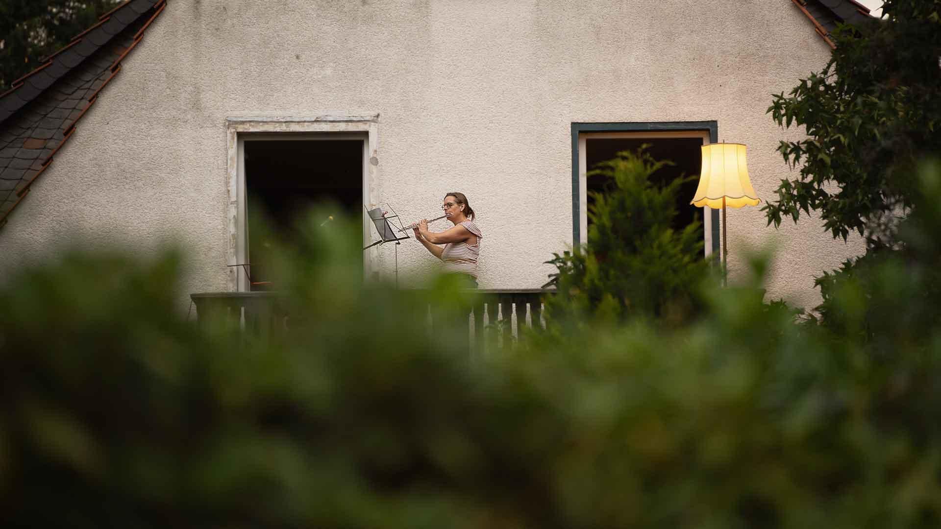 Kirsten Grotemeyer beim Balkon der freien Künste 2020