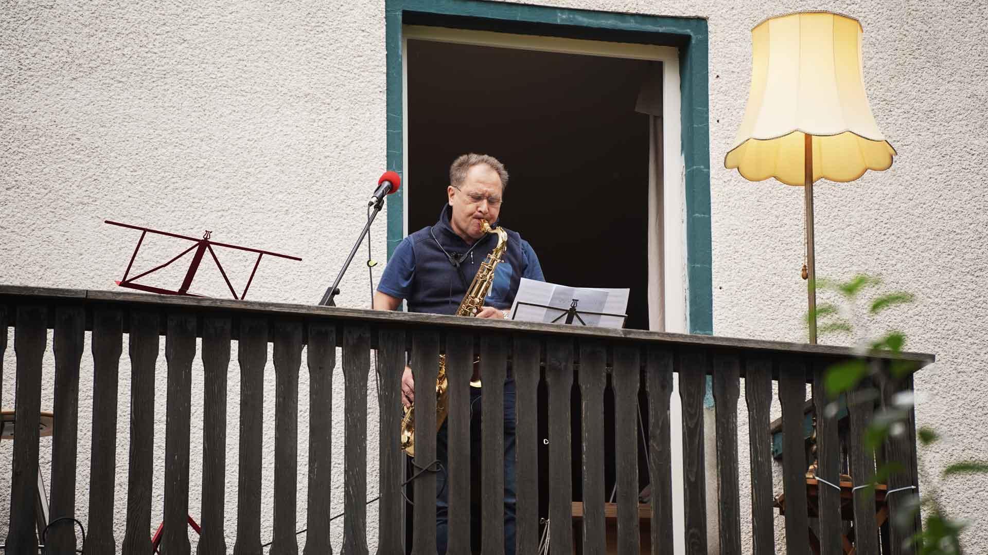 Hajo Woltersdorf beim Balkon der freien Künste 2020