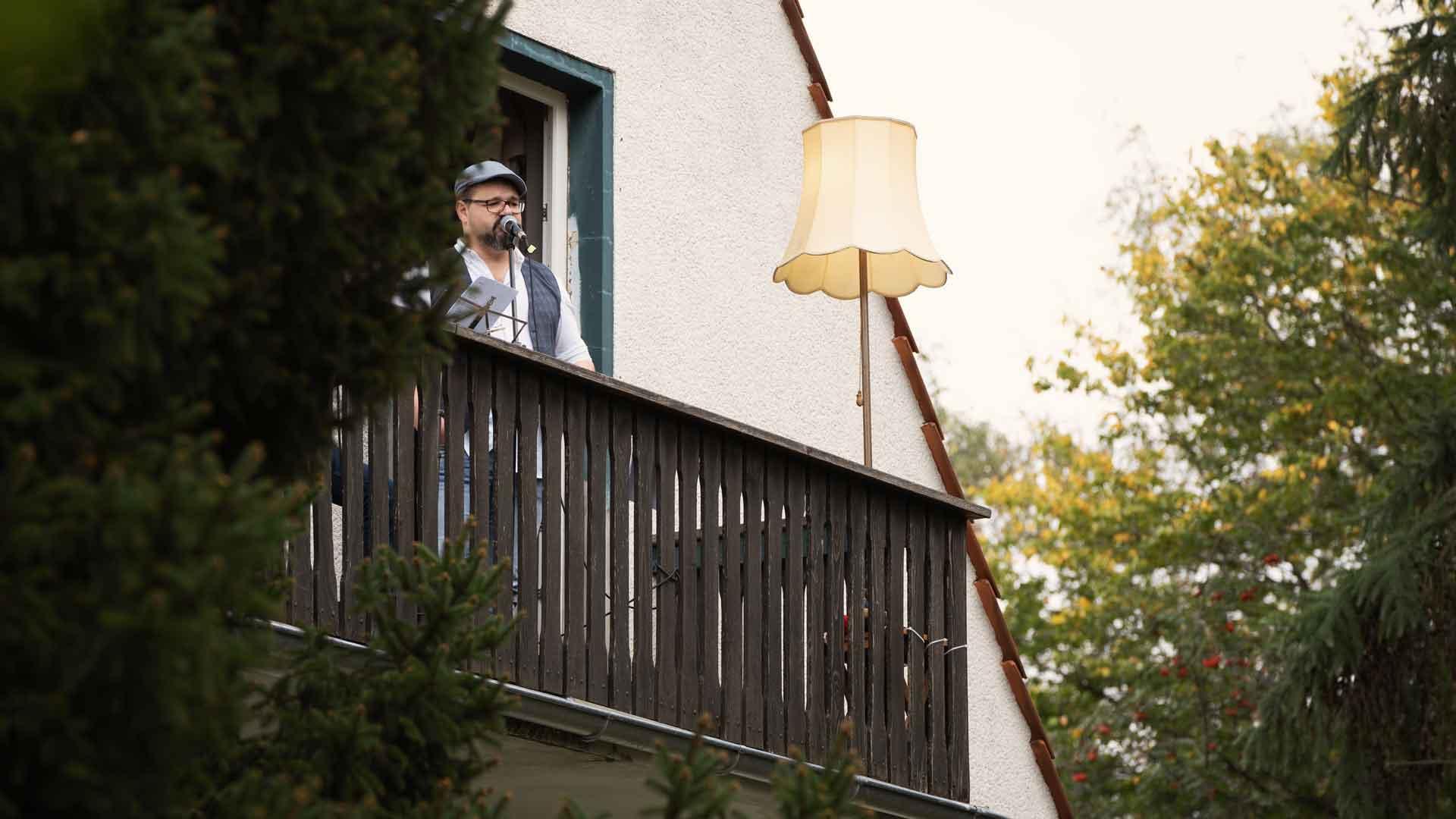 Thomas Ziegler von Else klingt beim Balkon der freien Künste 2020