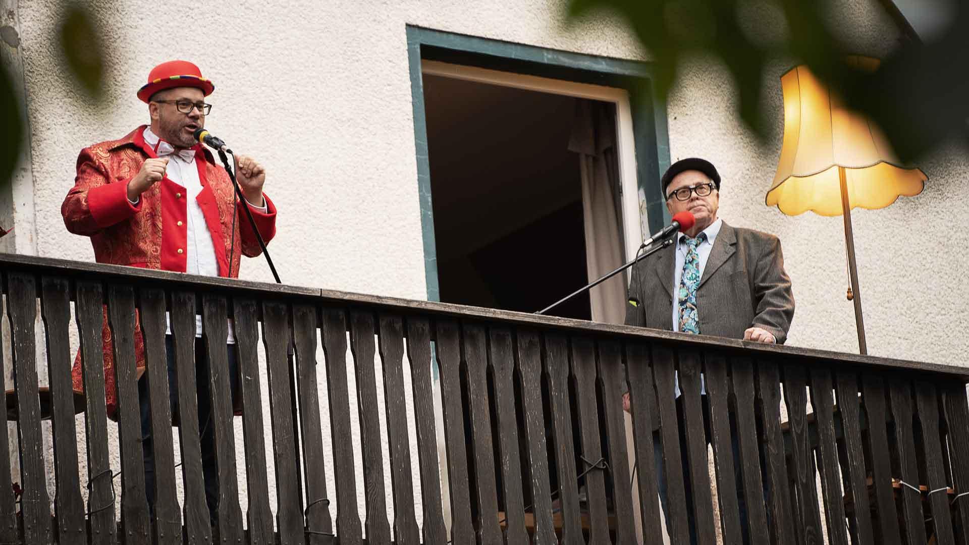Marc und Dieter Lehwald beim Balkon der freien Künste 2020