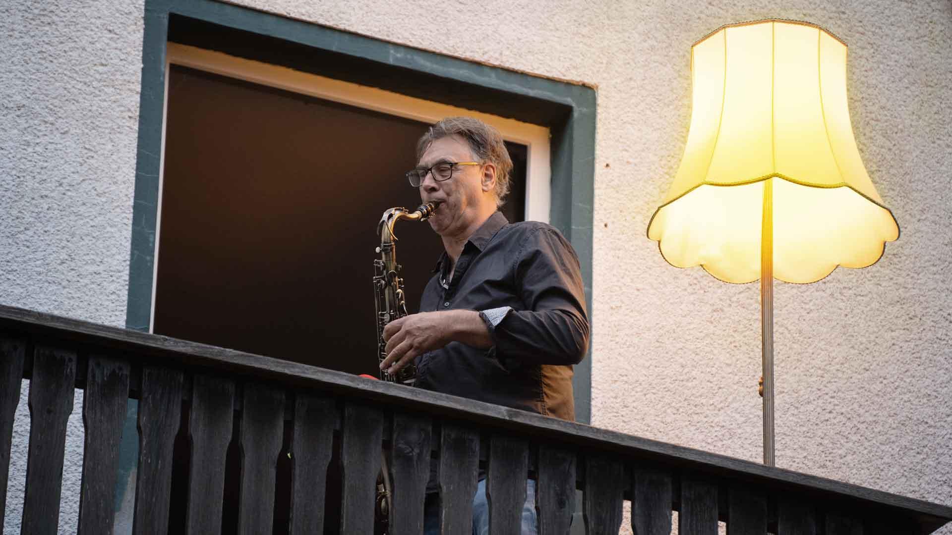 Ortwin Eversmeyer beim Balkon der freien Künste 2020