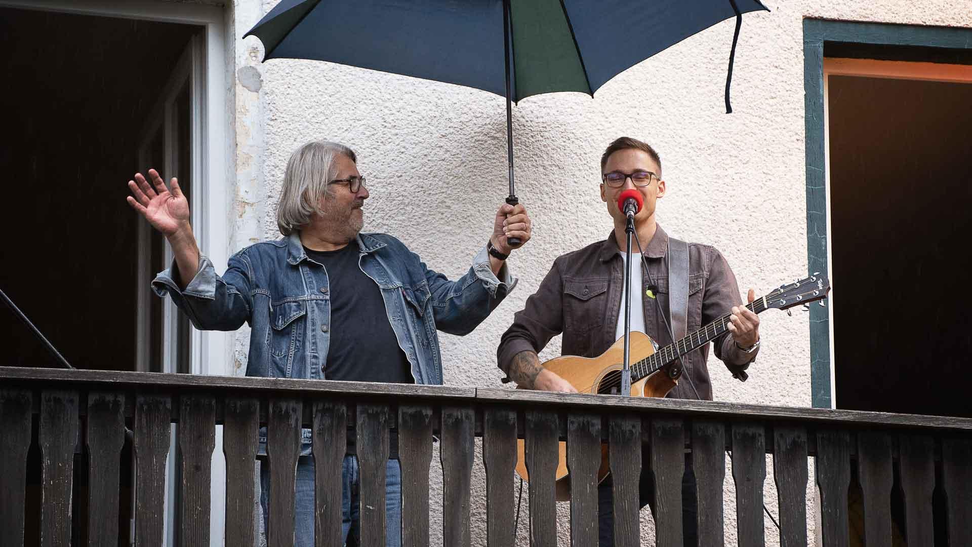 Oliver Rohlfing beim Balkon der freien Künste 2020
